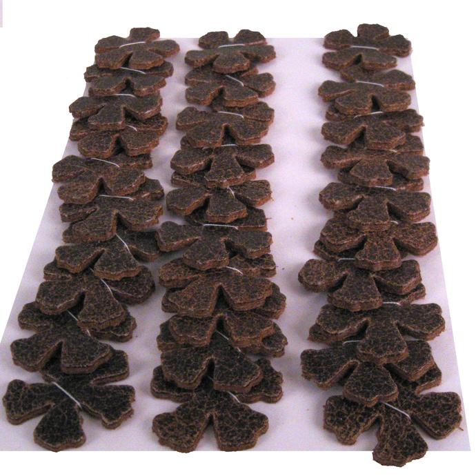 Rustic Brown Leather Die Cut Flowers