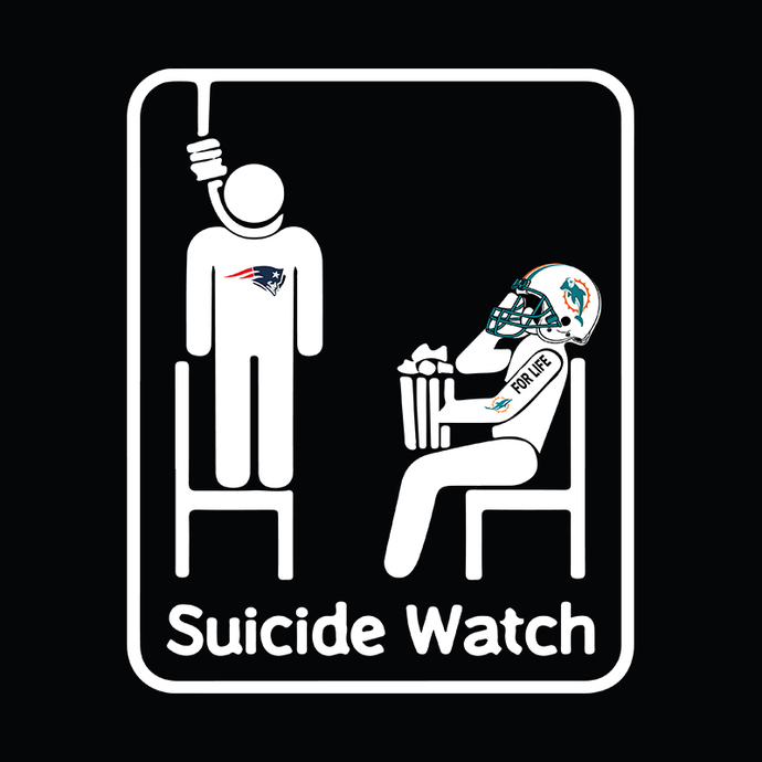 Miami Dolphins Suicide Watch With Popcorn NFL svg, Miami dolphins cut, miami