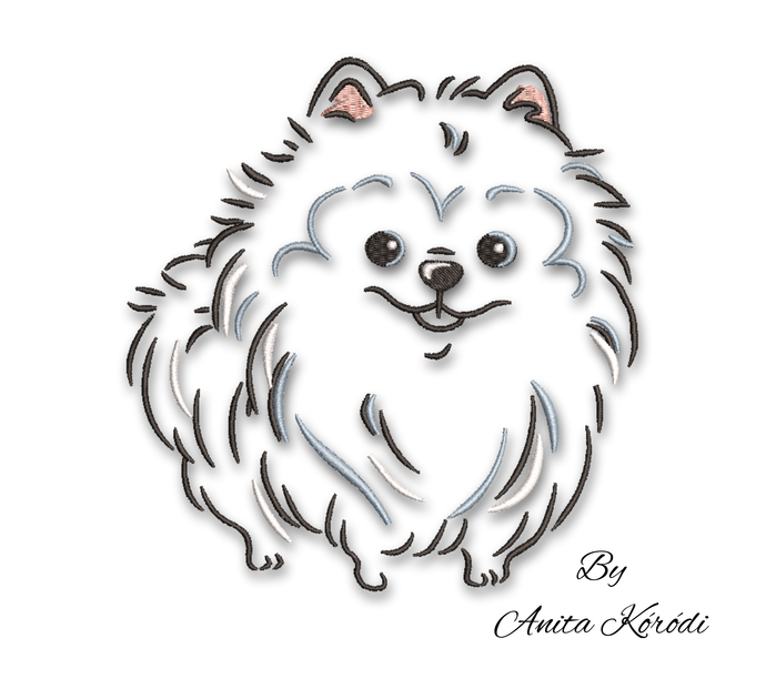Pomeranian embroidery machine design dog pes animal digital instant download