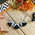 Black and White Triangle Necklace