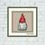 Cute funny Gnome Christmas cross stitch pattern