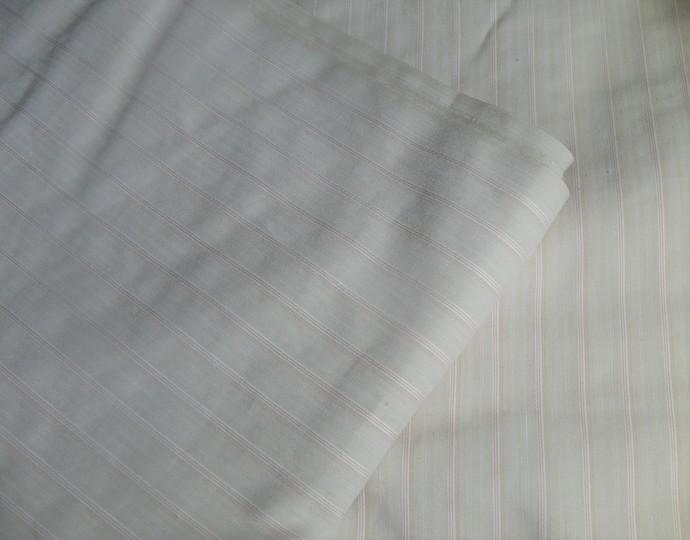 Shirting, Fabric, Material, Van Heusen, Beige, Striped, NOS, Yardage, 3+ yds.