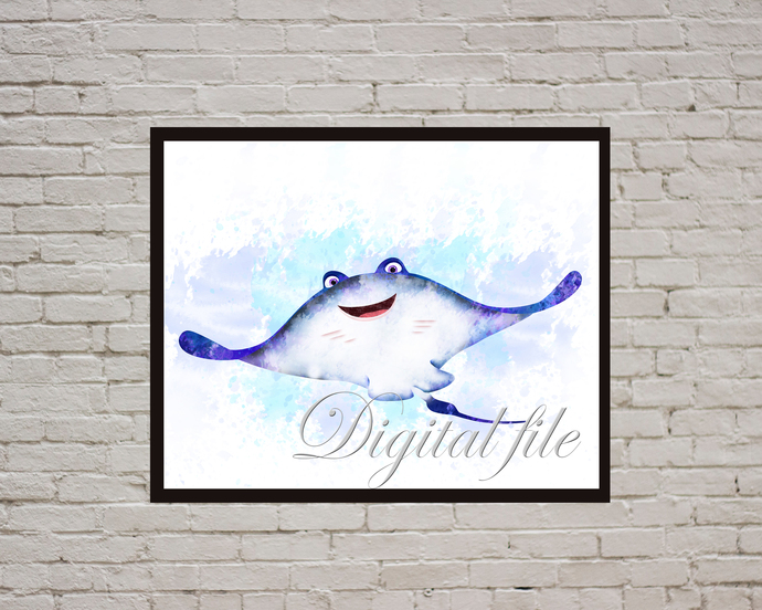 Finding Nemo Disney, Finding Nemo print, Nemo poster, home decor, nursery room,