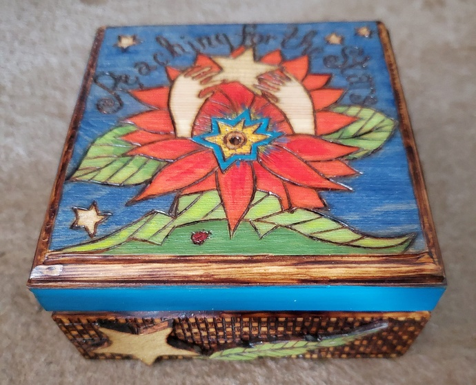 Reaching For the Stars Wooden Box