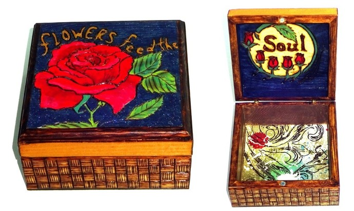 Flowers Feed the Soul Wooden Box