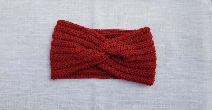 Twisted headwrap, earwarmer, headwear, fall winter fashion, secret sister santa,