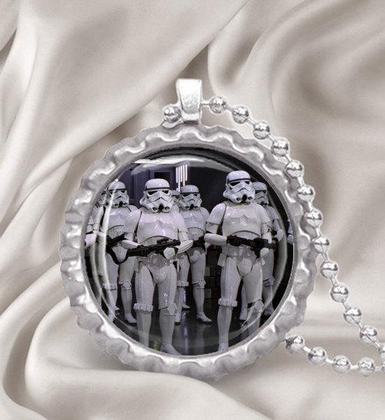 Star Wars StormTroopers Bottle Cap Pendant Necklace