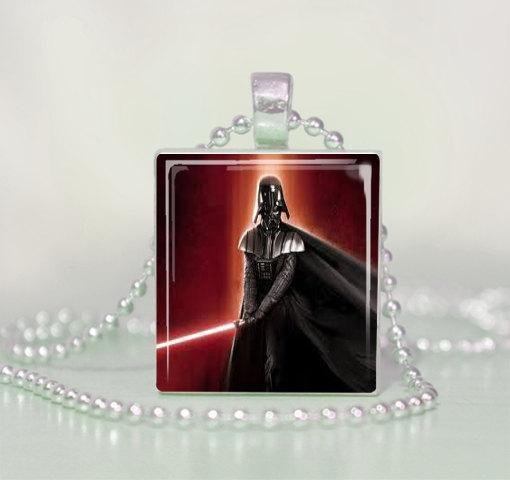 Darth Vader Scrabble Tile Pendant Necklace