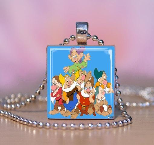 Seven (7) Dwarfs Scrabble Tile Necklace
