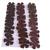 30 Dark Brown Leather Die Cut Flowers