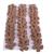 30 Light Brown Leather Die Cut Flowers