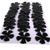 30 Black Leather Die Cut Flowers