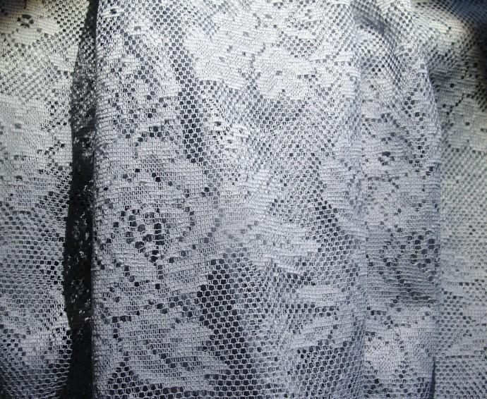 "Medium Blue,  Lace, Fabric, 42"" wide, 3 yds, new, Yardage, Sewing, Home Decor,"