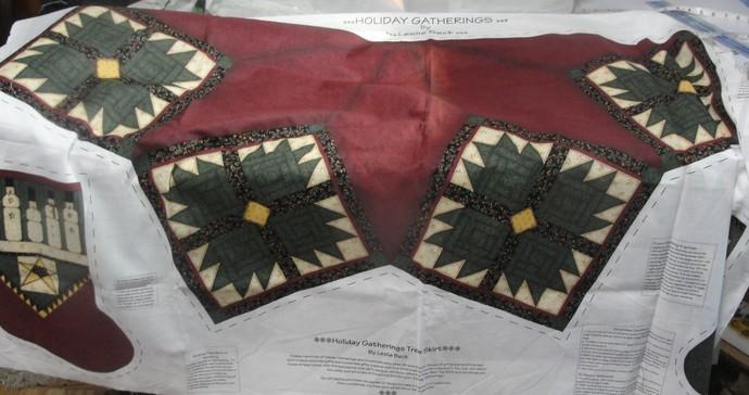 Tree Skirt, Tablecloth, Holidays, Christmas, Star, Stockings, new, DIY Project,