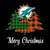 Top Merry Christmas Tree Football Team Miami-Dolphin Fan svg, Miami dolphins