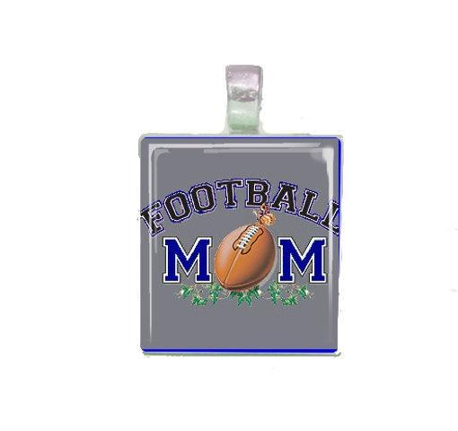 Football Mom Scrabble Tile Necklace