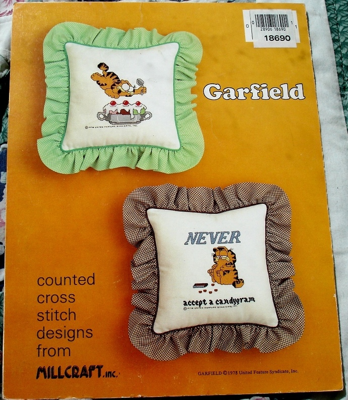 Garfield Diet Tips Counted Cross Stitch Chart By Millcraft -GCS-Diet
