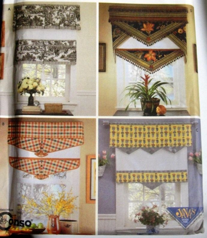 VALANCES,  SHADES,  Sewing Pattern, Uncut,  Simplicity 5342, Home Decor, WINDOW,