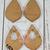 Pointed Teardrop ~ Acrylic Earring Blanks ~ Set of Two