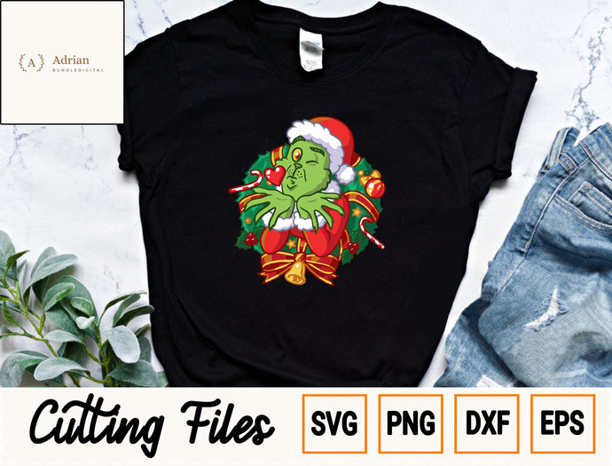 Santa Grinch SVG/ Merry Christmas SVG/ Grinches SVG/ Grinch Christmas SVG/