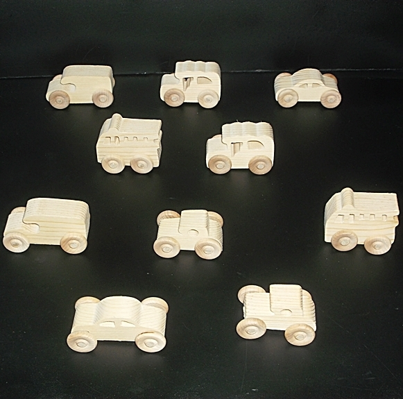 10 Handcrafted Wood Toy Cargo Van, Fire Truck, Cars  OT-15  unfinished or
