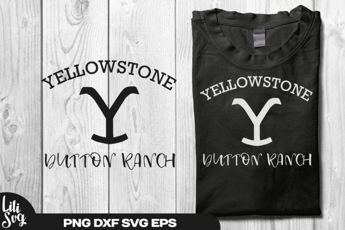 Yellowstone Dutton Ranch svg dxf eps ai png  Vector Cut File