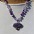 Purple Charoite Beaded Necklace, with Pendant, Jewelry gifts for Women, by