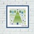 Merry Christmas abstract ornament cross stitch pattern