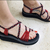 Braided Chunky Sandal-Red-Claudia Style