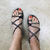 Braided Chunky Sandal-Black-Giulia Style