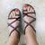 Woven Chunky Sandal-Burgundy-Giulia Style