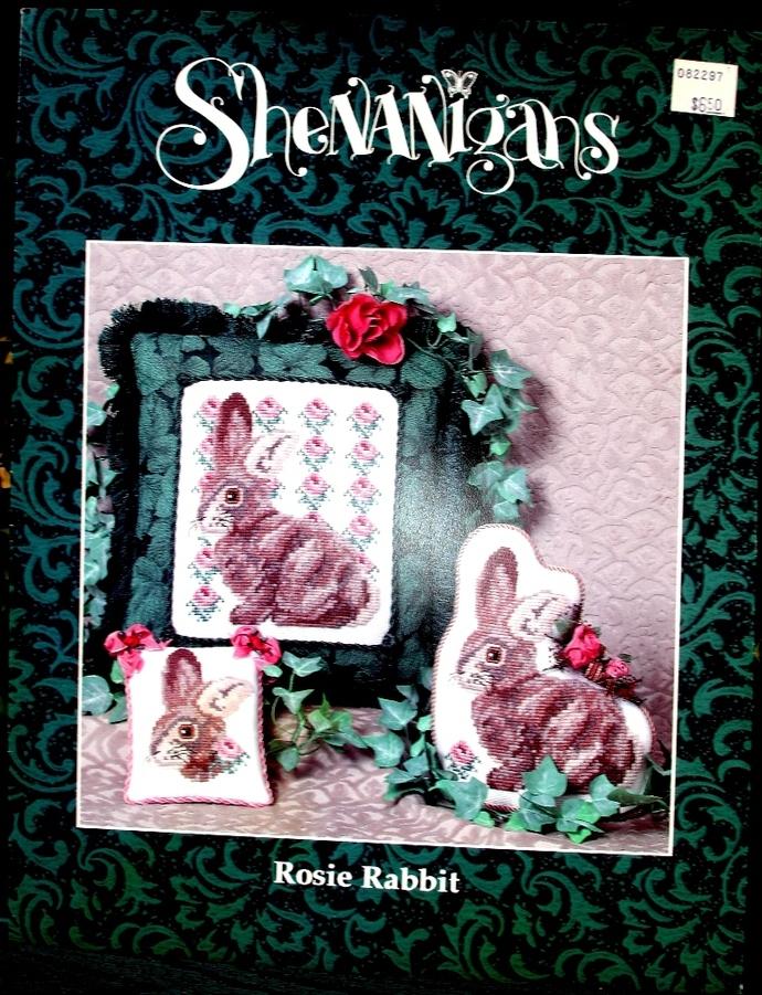 Shenanigans Rosie Rabbit Cross Stitch Pattern