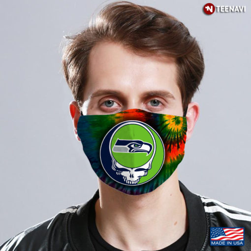 Seattle Seahawks Steal Your Face Grateful Dead Face Mask, Adult Face Mask, Sport
