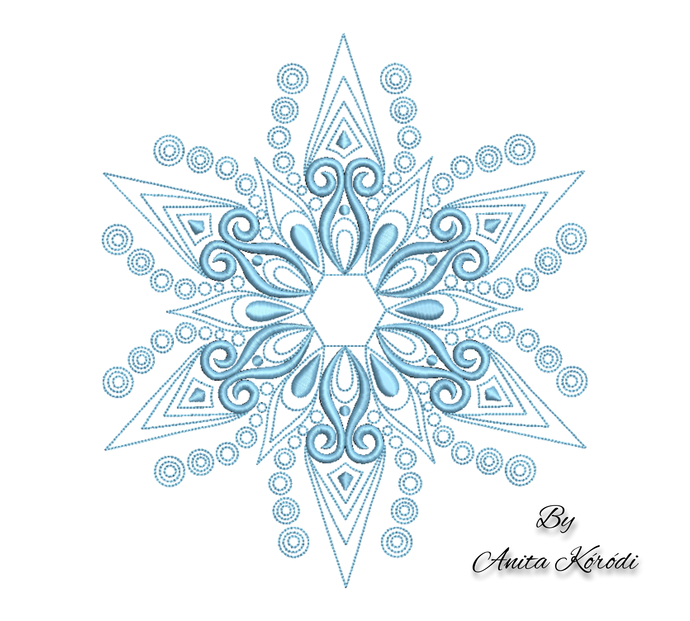 Snowflake embroidery machine design christmas pe winter pes digital instant