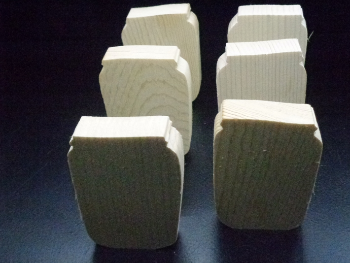 Pkg of 6 Canister Unfinished Wood Cutouts WCO-44-75