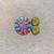 Sparkling Fractal Design Cabochons, 3 Piece Set