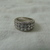 vintage Judith Ripka double row clear czs band ring size 8 wedding engagement