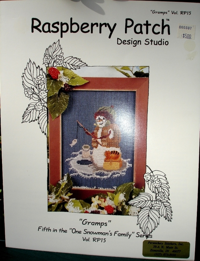 """Counted Cross Stitch Gramps By Raspberry Patch Designs Studio """"Gramps"""" Vol.RP15"""