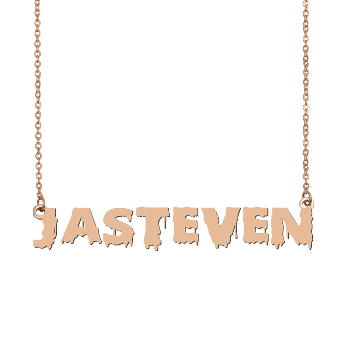 Custom jasteven Name Necklace Personalized Gift for Halloween Easter Christmas
