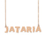 Custom Jataria Name Necklace Personalized Gift for Halloween Easter Christmas