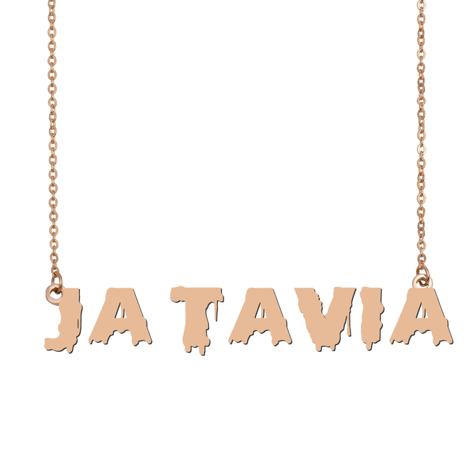 Custom Ja'Tavia Name Necklace Personalized Gift for Halloween Easter Christmas