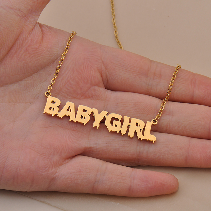 Custom JATERRICA Name Necklace Personalized Gift for Halloween Easter Christmas