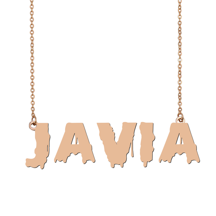 Custom Javia Name Necklace Personalized Gift for Halloween Easter Christmas