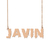 Custom Javin Name Necklace Personalized Gift for Halloween Easter Christmas