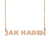 Custom Jax Haden Name Necklace Personalized Gift for Halloween Easter Christmas