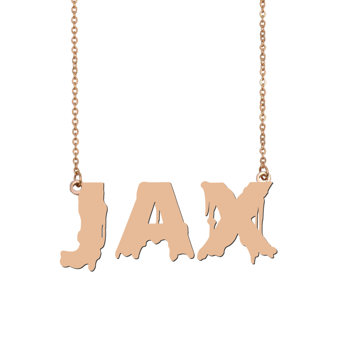 Custom Jax Name Necklace Personalized Gift for Halloween Easter Christmas
