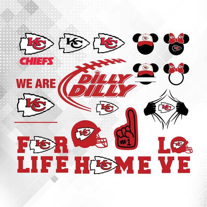 Kansas City Chiefs Bundle NFL Svg, NFL Lover Svg, Football Teams Svg, Sport