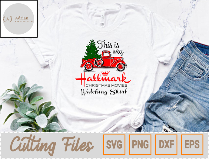 This Is My Hallmark, Christmas Movies Svg, Hallmark Svg, Xmas Svg, Truck Svg,