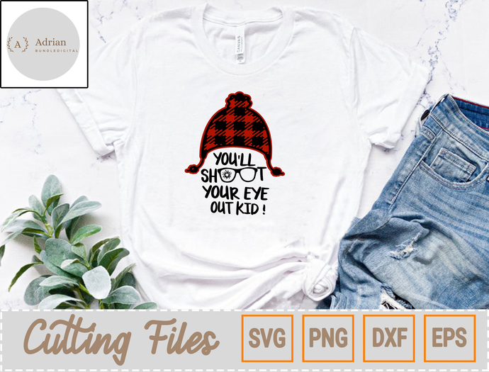 Merry Christmas SVG/ You'll Shoot Your Eye Out Svg, Christmas Story Svg,