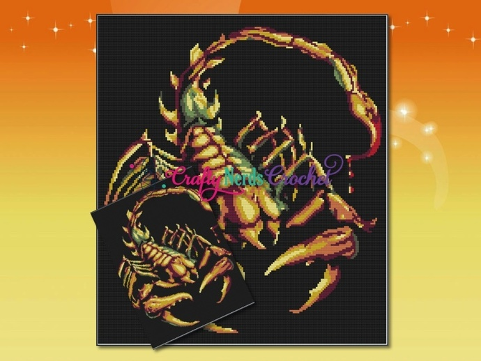 Scorpion Pattern Graph With Single Crochet Written